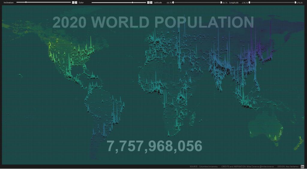 Joy plot on map