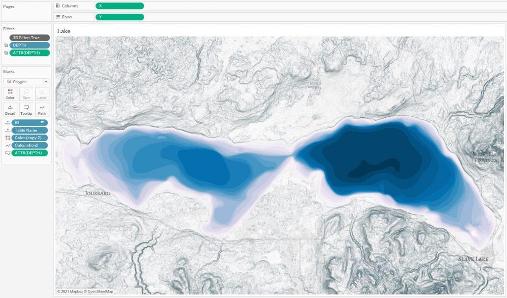 Карты высот и глубин в Tableau