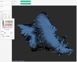 Карта высот в Tableau